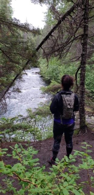 Hiking near Girdwood, Alaska